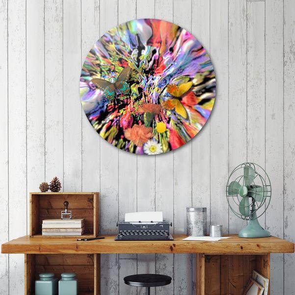 Découvrez «butterflies», Édition Limitée Oeuvres sur Disque par Richard Raveen Chester - À partir de 95€ - Curioos