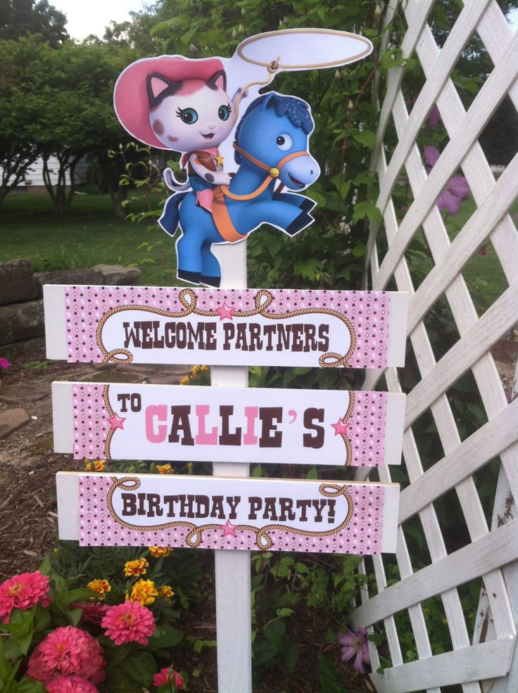 Callie Cat Birthday Yard Sign by TickleMeParty on Etsy, $20.00