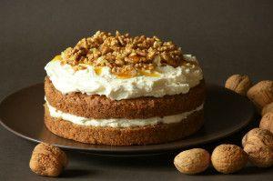 Ořechový smetanový dort
