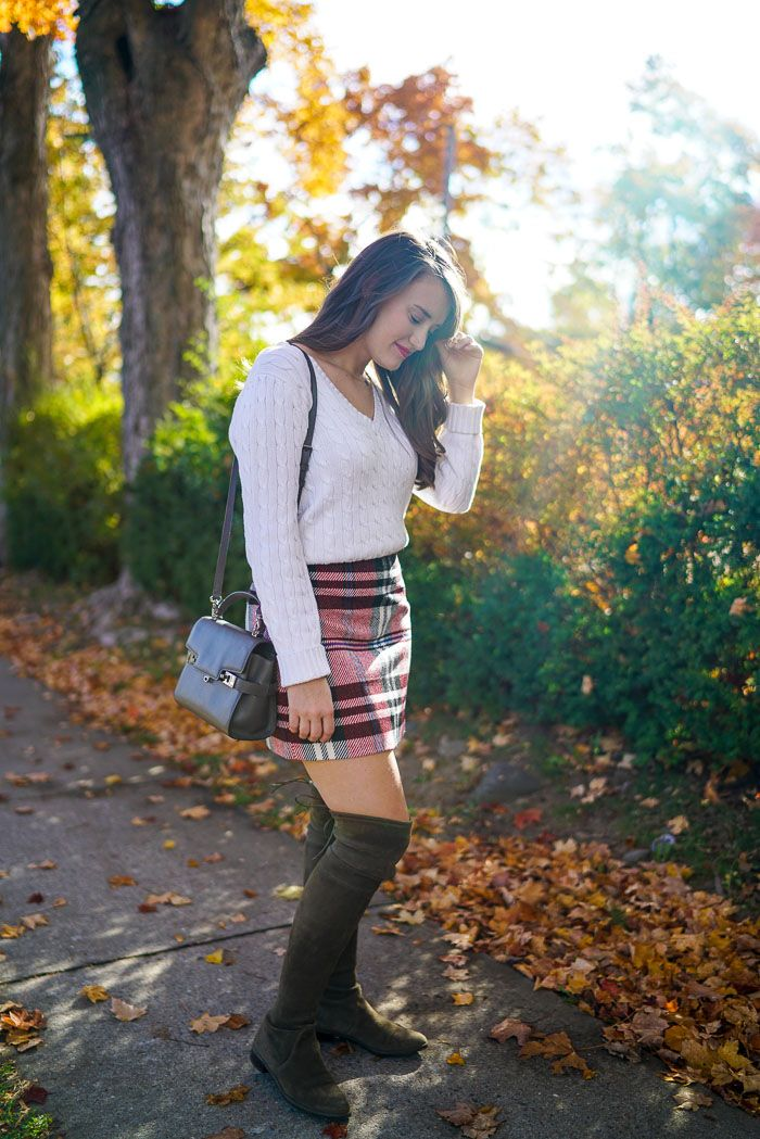 Plaid High-Waisted Skirt | Covering the Bases | Fashion and Travel Blog New York City