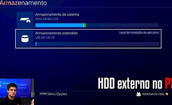 Como ligar um HDD externo ao seu PS4 com depois do novo update 4.50