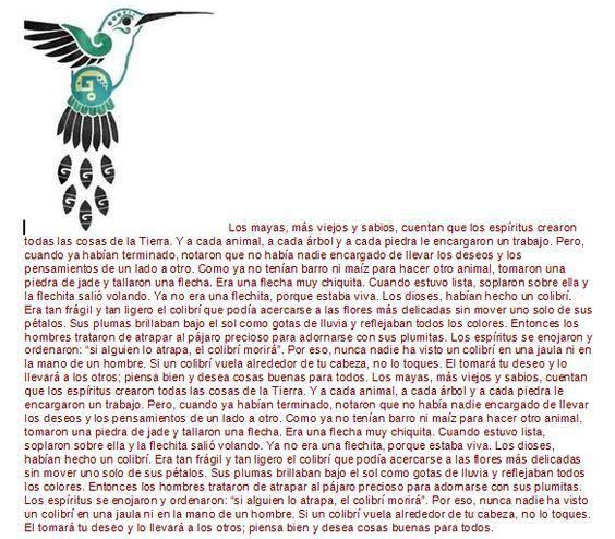 Resultado de imagen para colibri simbologia maya