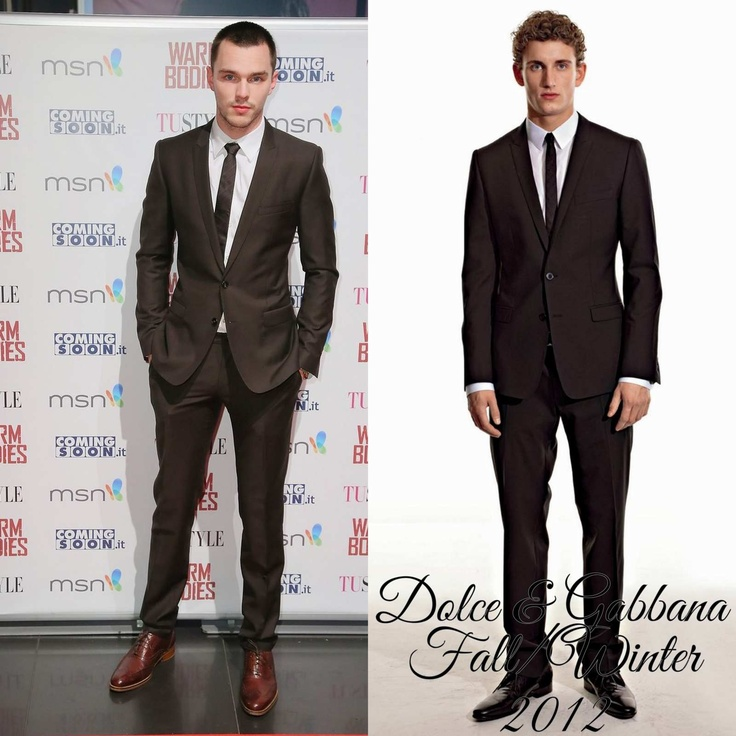 "The Derek's Blog: Nicholas Hoult en Dolce & Gabbana - ""Warms Bodies"" Rome Premiere"