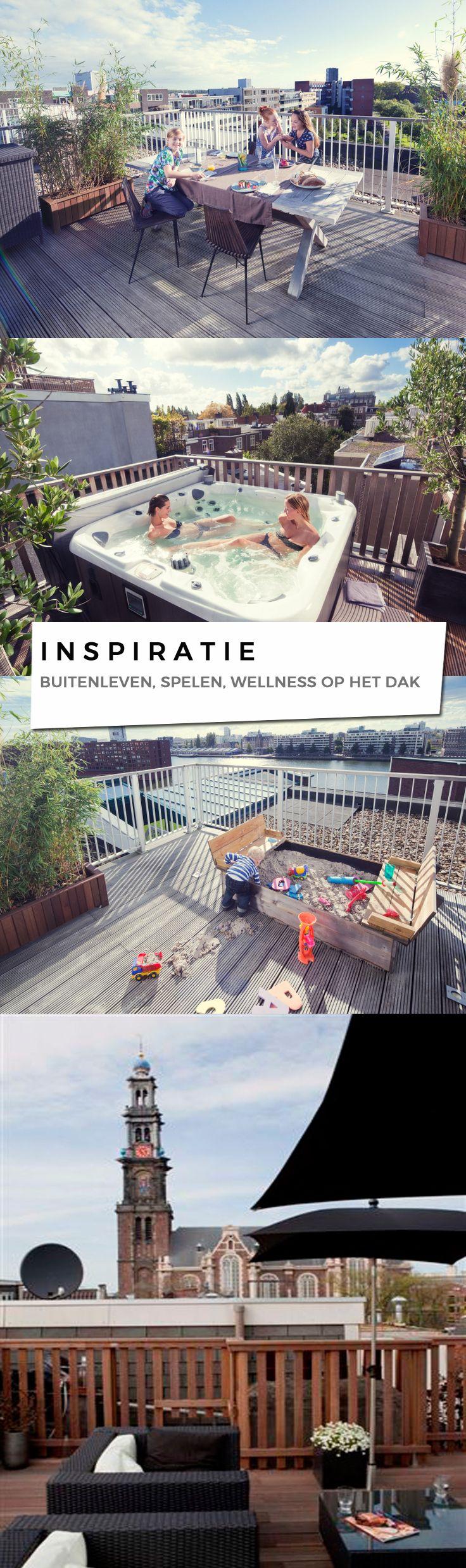 Het platte dak wordt steeds vaker gebruikt als leefdak. Een dakterras of daktuin biedt een aangename buitenruimte om te spelen, leven en te genieten van wellness.