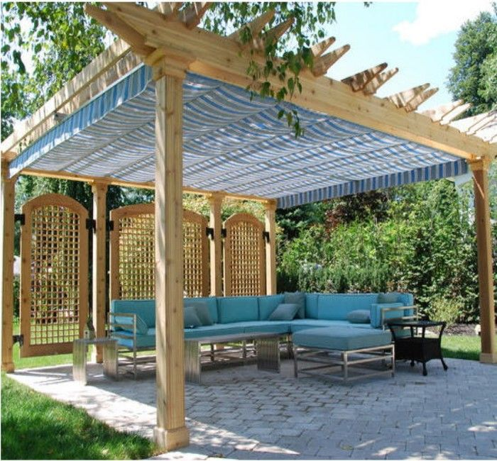 175 best pergola / gazebos roofs / covers images on pinterest ... - Patio Canopy Ideas