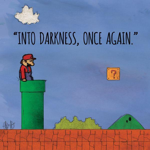 "Dear Inner Demons - Retro Video Game Edition: ""Into Darkness"" Art Print by audiovisualboy | Society6"