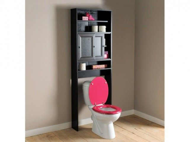589 best images about les wc on pinterest for Meuble toilette