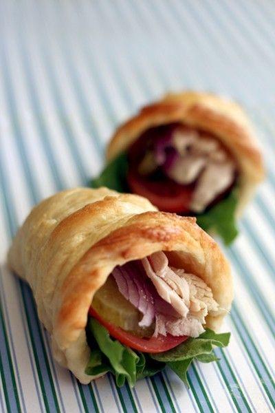 Thanksgiving Mini-Cornucopia Breads #recipe #snack #turcky