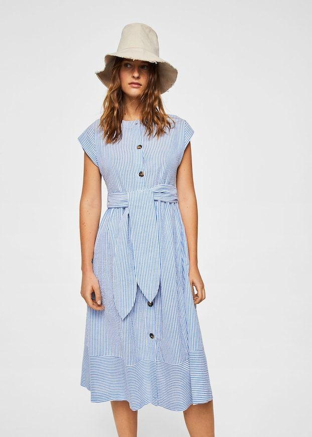 623d4f447 Textured cotton-blend dress - Women | Modelagem | Dresses, Midi ...