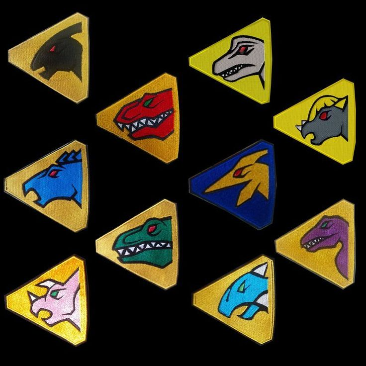 Power Rangers Dino Charge / Kyoryuger Main and Extended Team Patch Pack #Handmade #Uniform