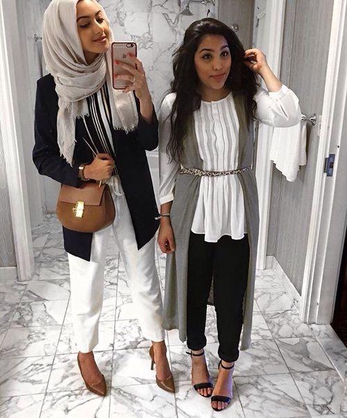 Pinterest: @eighthhorcruxx. Both outfits. Black, white, grey