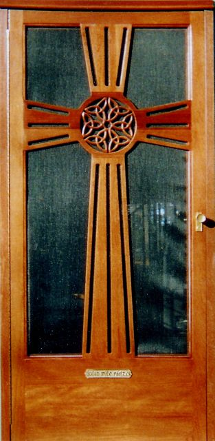 Celtic cross door