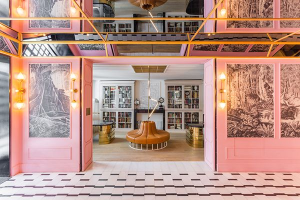 Spanish hotel chain Room Mate adds a new venture and eclectic glam at the Emir hotel in Istanbul, designed by Barcelona based bureau Lázaro Rosa Violán. #hoteldesign #hotels #istanbul