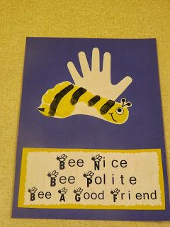 The Stuff We Do ~ Footprint and handprint bumblebee!