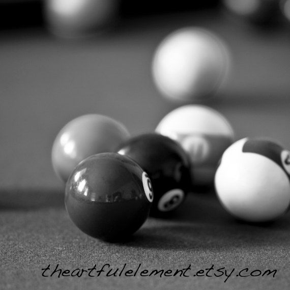 Billiard room decor Pool room decor Game room by TheArtfulElement