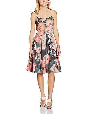 10, Multicoloured (Multi), Yumi Women's Floral Prom Dress NEW