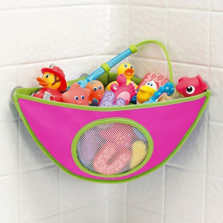 Bath Toys Organizer Storage Bin Baby Bathroom Bag Baby Kids Bath Tub Waterproof Toy Hanging Storage Bag Rose Color Игрушки Для Купания