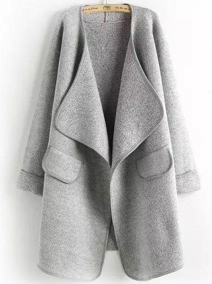 Chaqueta manga larga casual -gris 22.90