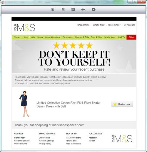 11 best emails reviews images on pinterest email newsletter marks and specner reviews email solutioingenieria Choice Image