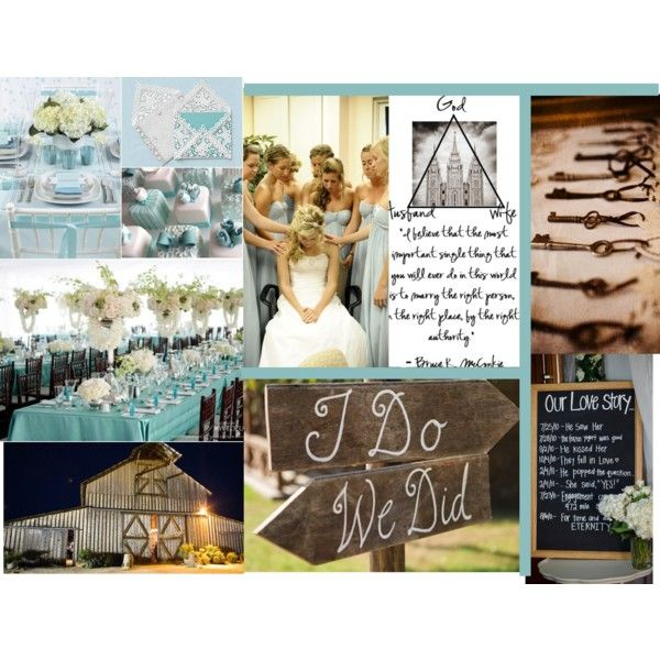 Tiffany Blue Country Wedding, created by ariibella on Polyvore