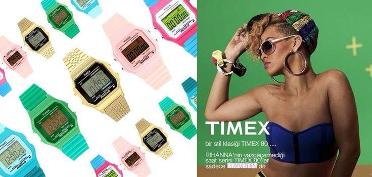 Trendleri belirleyen kadın Rihanna'nın vazgeçemediği aksesuarı Timex80   https://www.luxvitrin.com/marka/timex-80saat