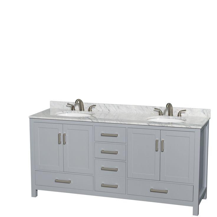 Wyndham Collection Sheffield Gray Undermount Double Sink