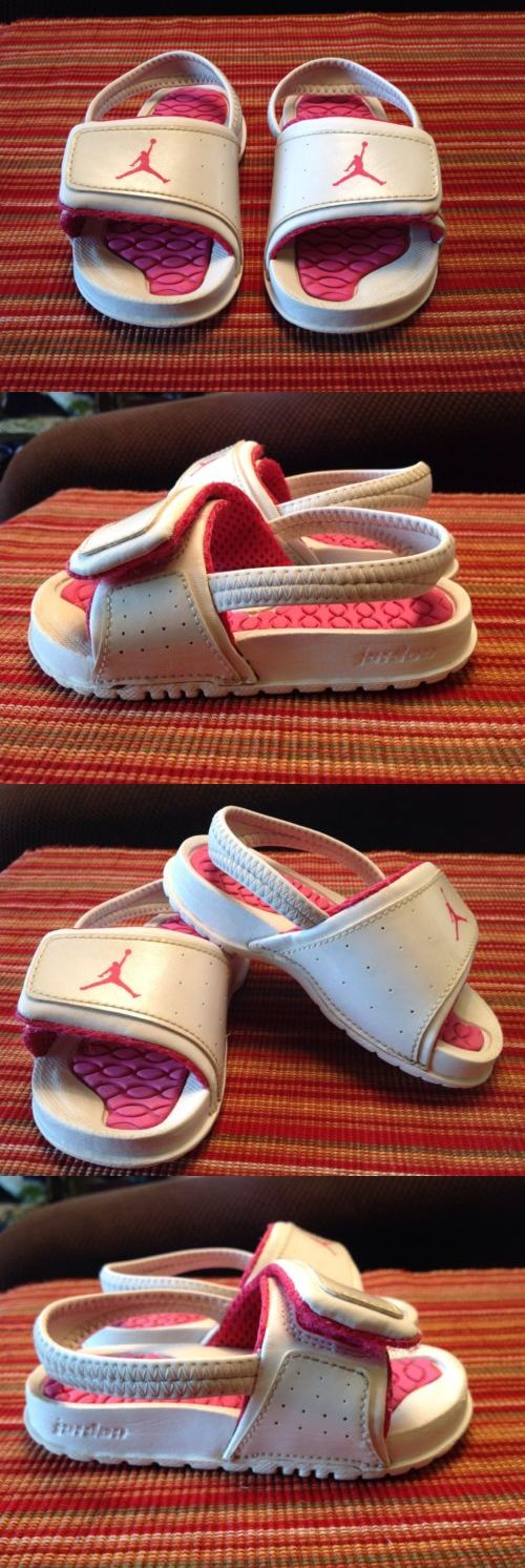 Michael Jordan Baby Clothing: Michael Jordan Toddler Girls(Size7c)White Hot Pink Slingback/Velcro Sandalseuc BUY IT NOW ONLY: $21.99