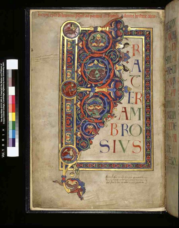 Color Plates of The Bury Bible