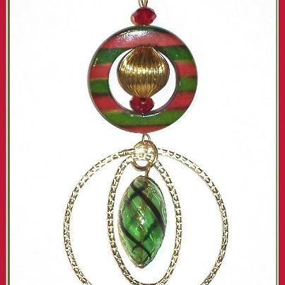 Addobbo Natalizio fatto con le perline / Beaded Christmas decoration