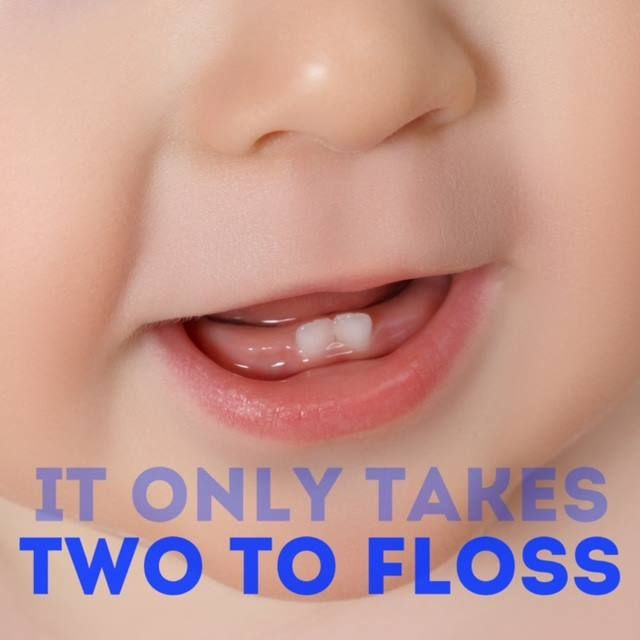 Its never too early for good dental hygiene so as soon as two teeth grow in its time to start flossing! - Dr. Tracht and Dr. Briskie Pediatric Dentistry | #RochesterHills | #MI | http://ift.tt/1QRNhwq