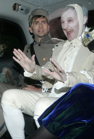 David Tennant and Mark Gatiss... I don't know what's happening, but it's amazing.