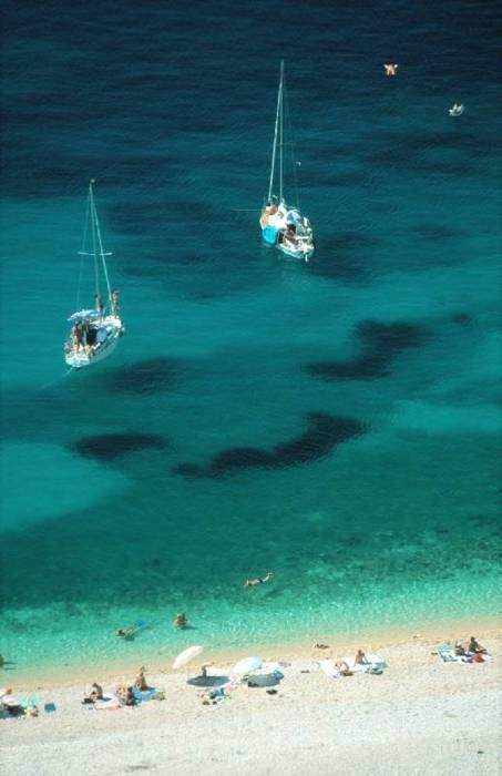 Boats off Krk Island in #Croatia on the Adriatic Sea