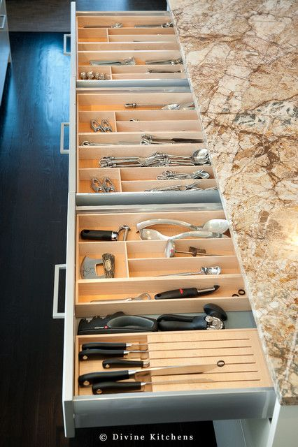 Cutlery Drawers - Traditional - kitchen - Divine Kitchens