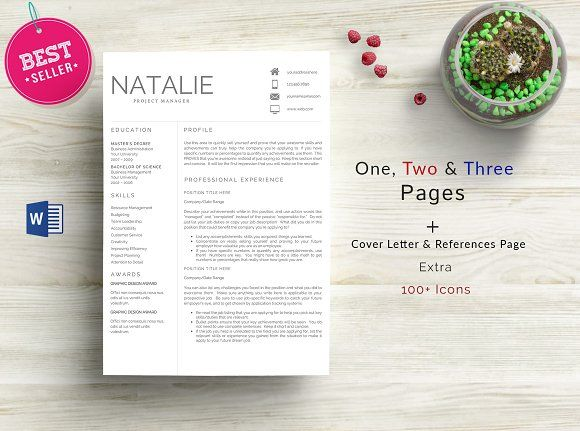 3 Pages Professional Resume Template -  C O N T E N T S  3 page resume template 1 cover letter template Fonts link included Guide File: PDF 150+ Extra Icons Editable Format for download: ZIP Format: MS Word File Templates work with MS Word: 2007/2008|2010/2011|2013|2016| or later on PC & MAC Fast and friendly customer service1 instructional FAQ/Help pdf A list of all the necessary free fonts, plus links to download Customer support. Need help? Drop us a message! @creativework247
