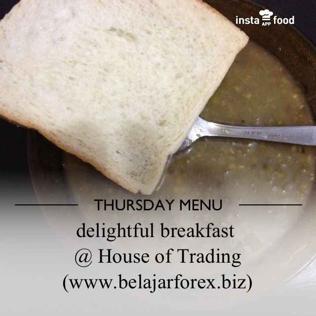 bubur kacang ijo + roti tawar