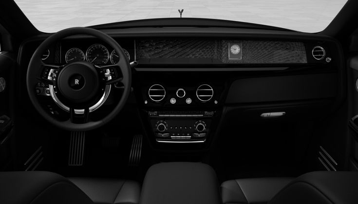 Rolls Royce Phantom with black interior