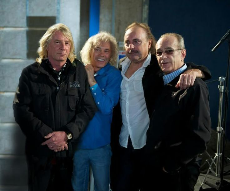 The original members of Status Quo, (L-R) Rick Parfitt, Alan Lancaster, John Coghlan and Francis Rossi.  The 'Frantic Four' will be participating in a limited, once and only tour.