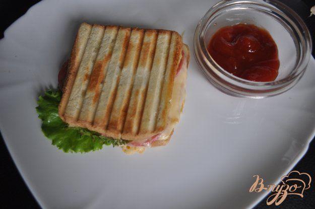 Сэндвич с салями и салатом - пошаговый рецепт с фото