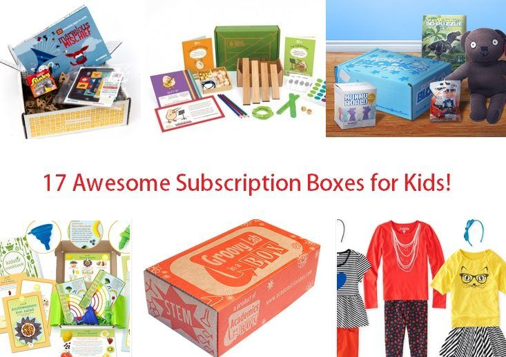 17 Awesome Subscription Boxes For Kids! - Check out my list of the best monthly subscription boxes for kids - starting at $3.99 a box!