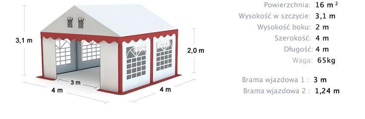 Commercial Party Tent 4x4 Namiot Handlowy Imprezowy 4x4