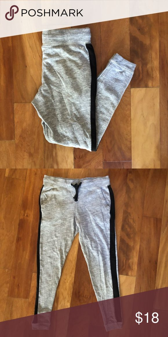 American eagle jogger sweats Fitted joggers with black stripes down the side. Dr…