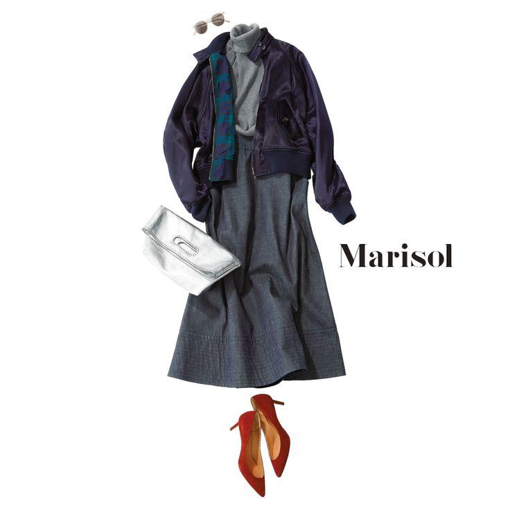 アラフォー・だめウーマンに陥らないイケてるブルゾンコーデとは?【2017/12/3コーデ】Marisol ONLINE|女っぷり上々!40代をもっとキレイに。