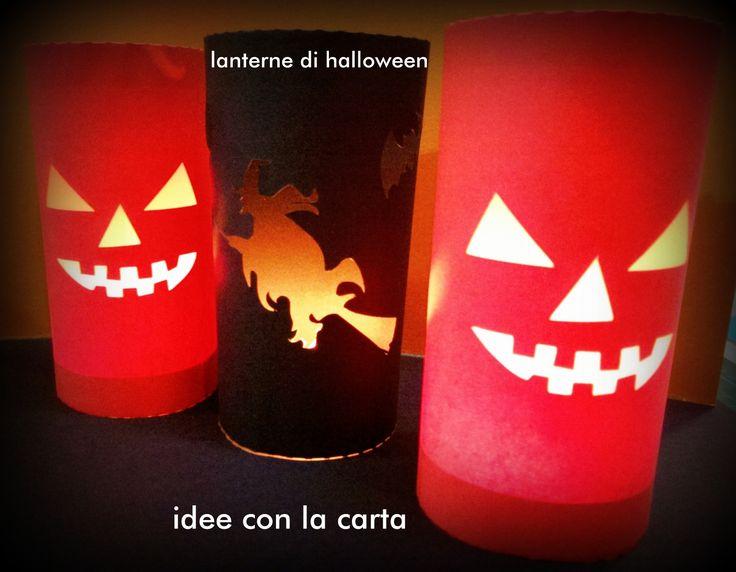 Halloween, Idee, Lanterne, paper Regalo