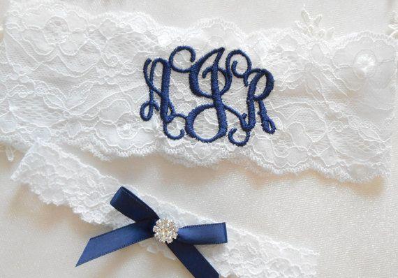 MONOGRAMMIERT Hochzeit Strumpfband von BridalbyVanessa auf Etsy