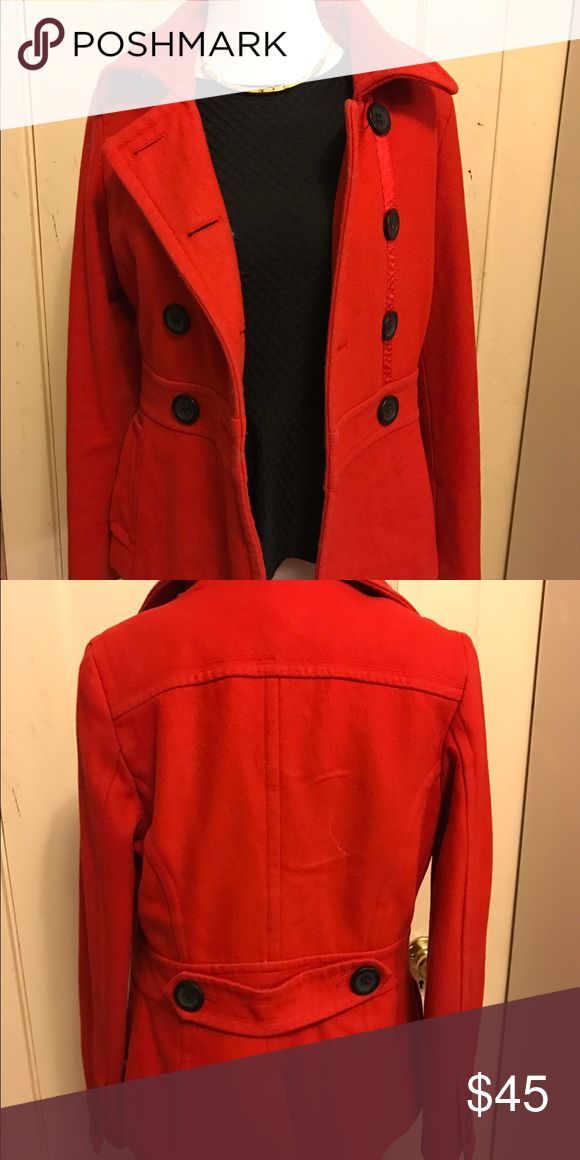 Red Pea Coat, great condition size Small Like new Red Pea Coat from Macy's Macy's Jackets & Coats Pea Coats