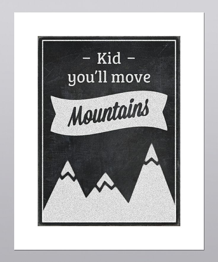posie co youll move mountains print - Kid Pictures To Print