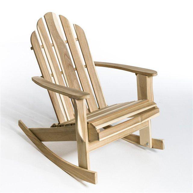 rocking chair - 189E - disponible en brut, rouge, noir et blanc - livraison sous 10 jours