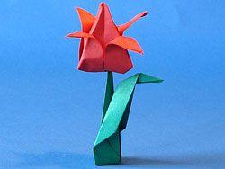 Origami Tulpe Faltanleitung