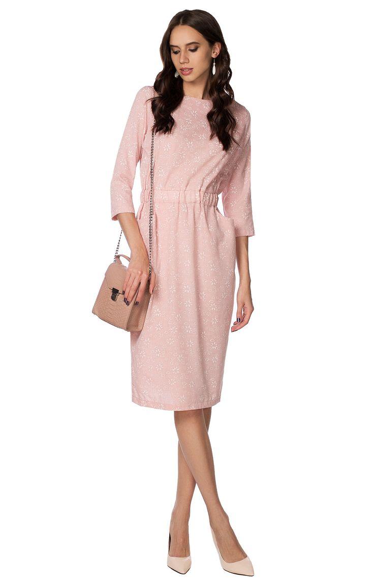 Фактурное платье-миди на широкой резинке LORANI 2000000145693, купить за 12000 руб в интернет-магазине TopTop.ru