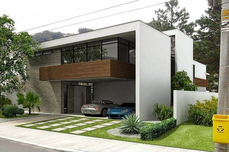Decor Salteado - Blog de Decoração   Arquitetura   Construção   Paisagismo: Fachadas de casas com vidro: incolor, verde, azul, fumê, espelhado!